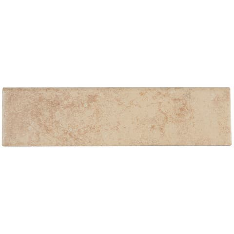 Rustic Stone Look Trim 3x12-inch Floor Bullnose in Bone - 3x12