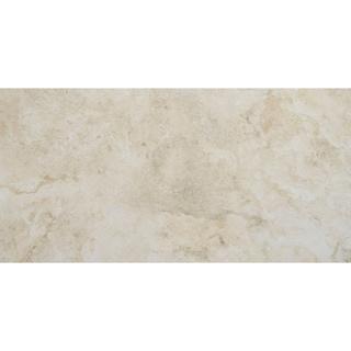 Stone Visual 12x24-inch Glazed Porcelain Floor Tile in Terrace Beige - 12x24