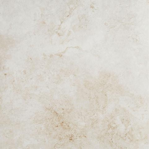 Stone Visual 18x18-inch Glazed Porcelain Floor Tile in Garden White - 18x18