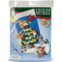 "Design Works Felt Stocking Applique Kit 18"" Long"