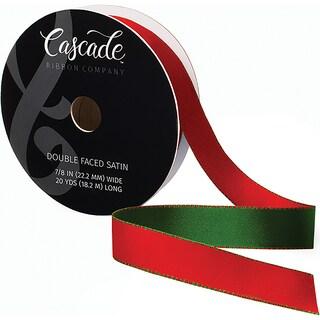 """Cascade Double Faced Satin Ribbon 7/8""""X20yd"""