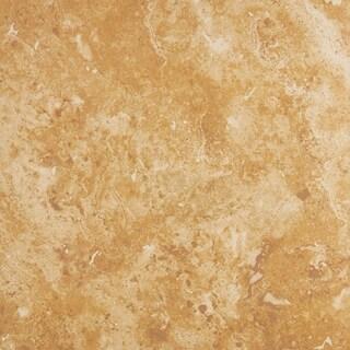 Rustic Style 18x18-inch Glazed Ceramic Floor Tile in Amber - 18x18