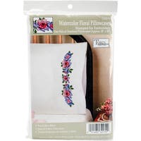"Tobin Stamped For Embroidery Pillowcase Pair 20""X30"""