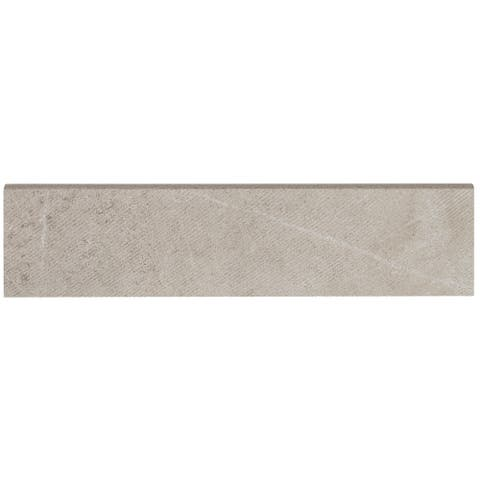 Stained Concrete Effect 3x12-inch Bullnose Plank in Haze - 3x12
