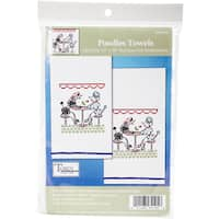 "Tobin Stamped For Embroidery Kitchel Towels 18""X28"" 2/Pkg"