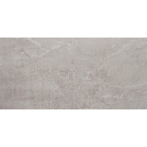 Stained Concrete Effect 12x24-inch Unpolished Floor Tile in Haze - 12x24