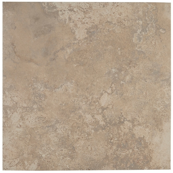 Shop Travertine Replica 18x18 Inch Ceramic Floor Tile In Dorian Grey