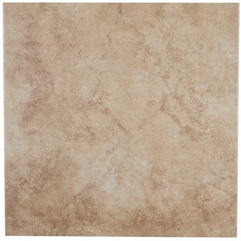 16x16-inch Glazed Ceramic Floor Tile in Chateau - 16X16