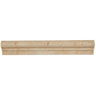 Select Travertine Stone 2x12-inch Chair Rail in Ivory Classico - 2x12
