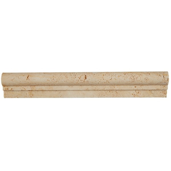 Shop Select Travertine Stone 2x12-inch Chair Rail In Ivory