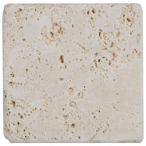Select Travertine Stone 4x4-inch Tumbled in Ivory Classico - 4x4