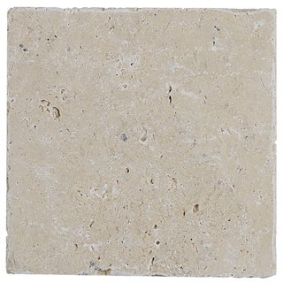 Select Travertine Stone 6x6-inch Tumbled in Ivory Classico - 6x6