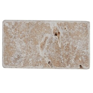 Select Travertine Stone 3x6-inch Tumbled in Light Noce - 3x6