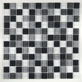 Glass Accent 1x1-inch Mosaic Blend in Classic Evening Mixer - 12x12