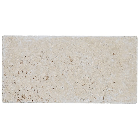 Select Travertine Stone 3x6-inch Tumbled in Ivory Classico - 3x6
