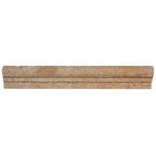 Select Travertine Stone 2x12-inch Chair Rail in Light Noce - 2x12