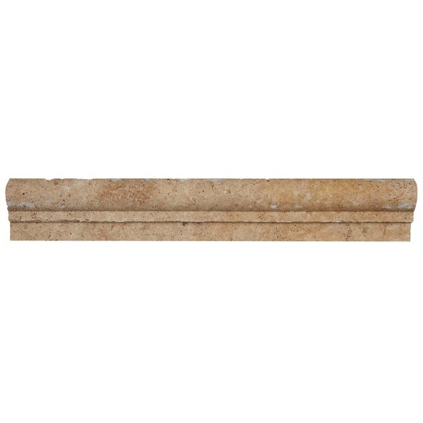 Shop Select Travertine Stone 2x12-inch Chair Rail In Light