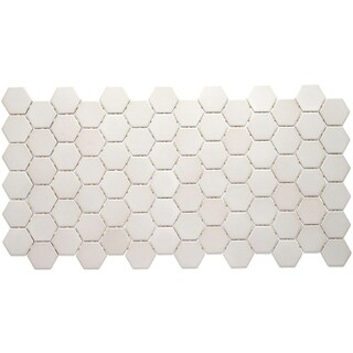 Porcelain 2-inch Hexagon Mosaic Tile in Desert Gray - 12x24