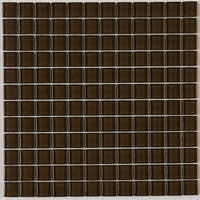 Glass Mosaic 1x1-inch Accent Tile in Classic Solid Suede Shoes - 12x12