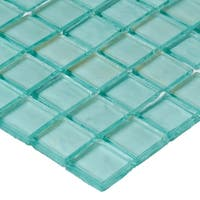 Shimmering Iridescent Glass Tile 3/4x3/4-inch Mosaic in Sea Glass - 12x12