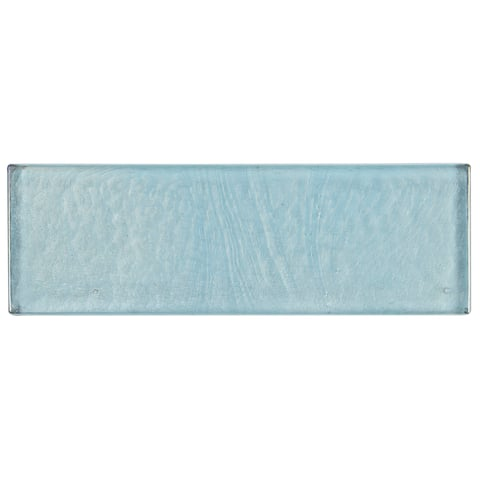 Shimmering Iridescent Glass Tile 2x8-inch Accent in Sky Blue - 2x8