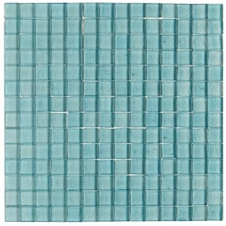 Shimmering Iridescent Glass Tile 3/4x3/4-inch Mosaic in Sky Blue - 12x12