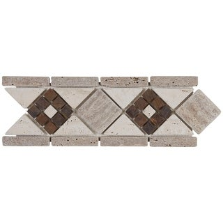 Complimentary Stone 4X11 Deco Accent Tile in Burnished Mix - 4x12