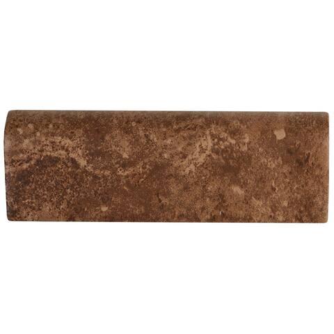 Rustic Style 2x6-inch Ceramic Bullnose in Edgewood - 2X6