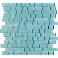 Shimmering Iridescent Glass Tile 3/4 Random Blend in Sky Blue - 12x12