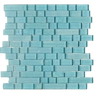Shimmering Iridescent Glass Tile 3/4 Random Blend in Sky Blue - 12x12