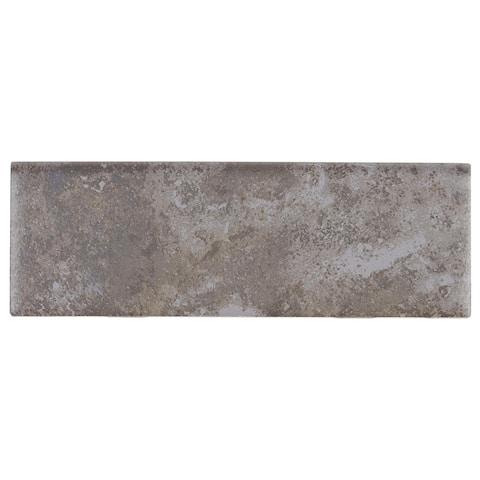 Rustic Style 2x6-inch Ceramic Bullnose 6-inch side in Ashland - 2X6