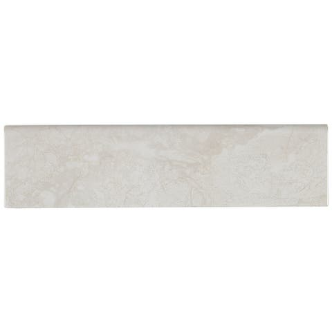 Marble Stone Visual 3x10-inch Ceramic Wall Bullnose in White Water - 3x10