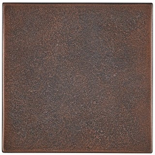 Cast Metal Collection 4-1/4x4-1/4-inch Accent Tile in Oil Rubbed Bronze - 4x4