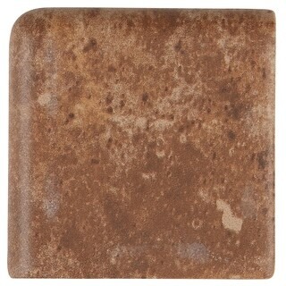 Rustic Style 2x2-inch Ceramic Bullnose Corner in Edgewood on the 6-inch side - 2x2