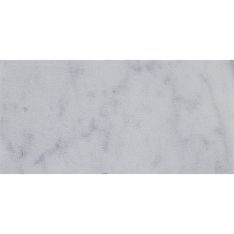 Marble 3x6-inch Honed Field Tile in White Carrara - 3x6