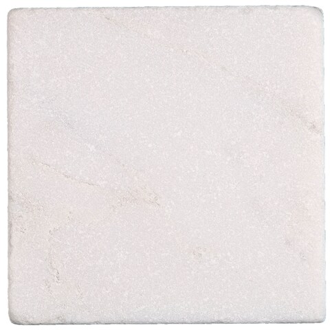 Marble 4x4-inch Tumbled First Snow Elegance - 4x4