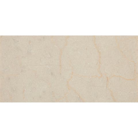 Marble 3x6-inch Honed Field Tile in Crema Marfil Classico - 3x6