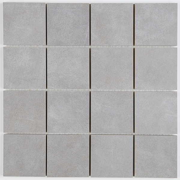 cf164a9b5334 Shop Porcelain Tile with a Concrete Visual 3x3-inch Mosaic Tile in ...