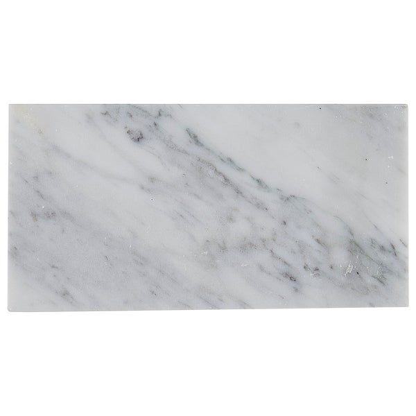 Marble 3x6-inch Polished Field Tile in White Carrara - 3x6. Opens flyout.