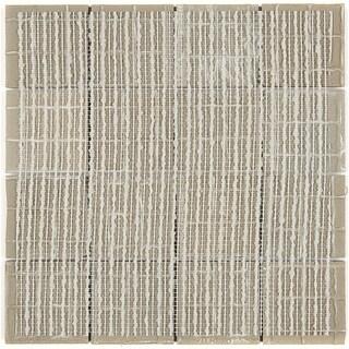 Porcelain Tile with a Concrete Visual 3x3-inch Mosaic Field Tile in Titanium - 3x3