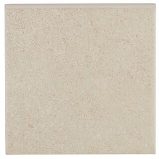 Contemporary Cement Visual 6x6-inch Ceramic Bullnose in Beige - 6x6