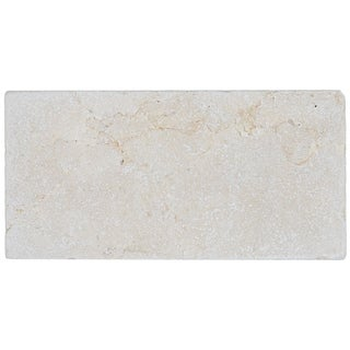 Marble 3x6-inch Tumbled Field Tile in Crema Marfil Classico - 3x6