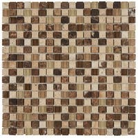 Radiant Stone & Glass Mosaic Tile 5/8x5/8-inch Morning Sun/Tortoise - 12x12
