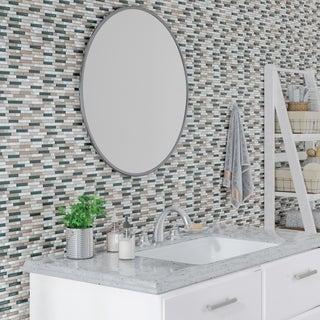 Radiant Stone & Glass Mosaic Tile 5/8-inch Random in Whisper Blend - 12x13