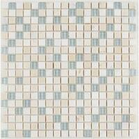 Radiant Stone & Glass Mosaic Tile 5/8x5/8-inch Whisper Blend - 12x12