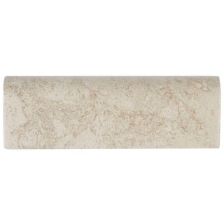 Travertine Replica 2x6-inch Ceramic Bullnose in Dorian Grey - 2X6