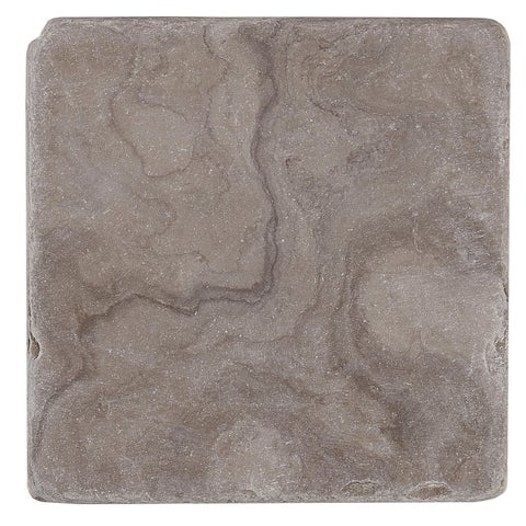 Marble 4x4-inch Tumbled in Silver Screen - 4x4
