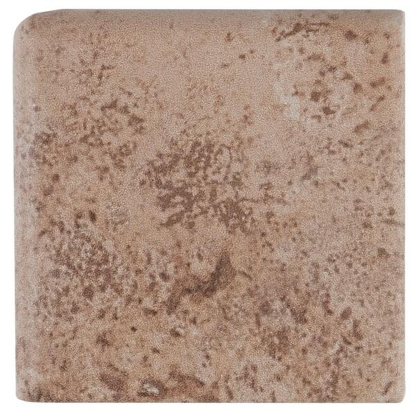 Shop Travertine Replica Xinch Ceramic Wall Bullnose Corner In - 3x3 ceramic wall tile