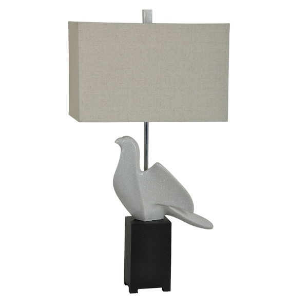 Perched Black and White 31-inch Table Lamp
