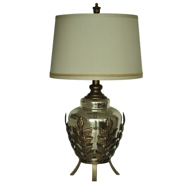 Serendipity Toasted Silver and Mercury 30-inch Table Lamp